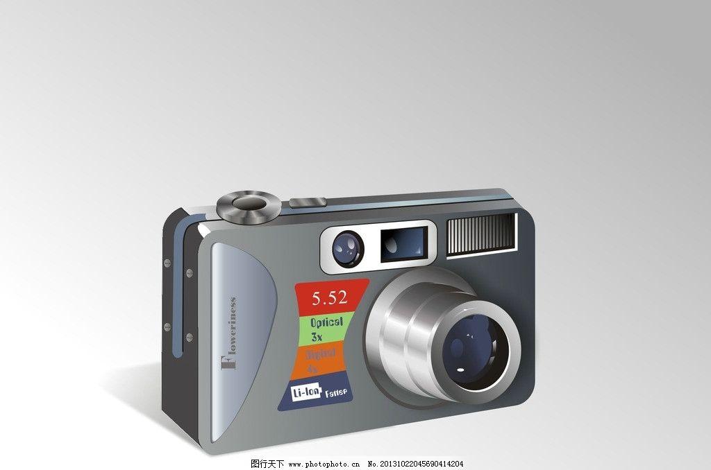 数码相机 商用 高清 时尚 照相机 傻瓜机 矢量 其他 现代科技 cdr