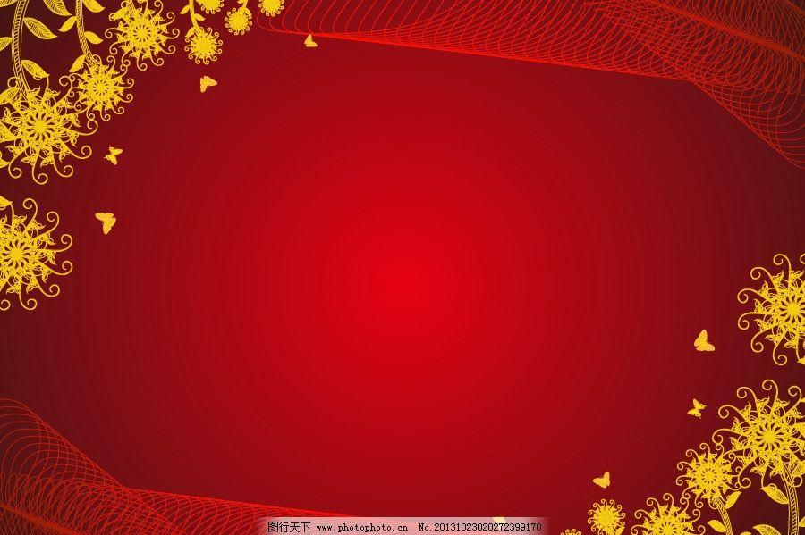 花纹背景 底纹底图背景 红色 红背景 线条 花藤 花枝 枝叶 欧式底纹