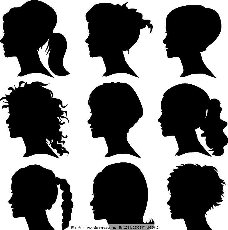 女人头像剪影图片_女性妇女_人物图库_图行天下图库