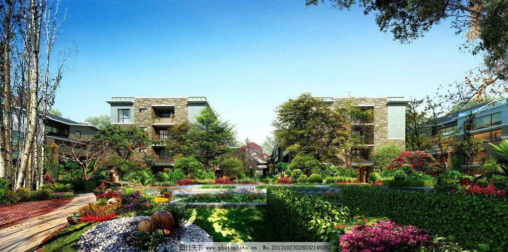 小区住宅景观节点透视图片