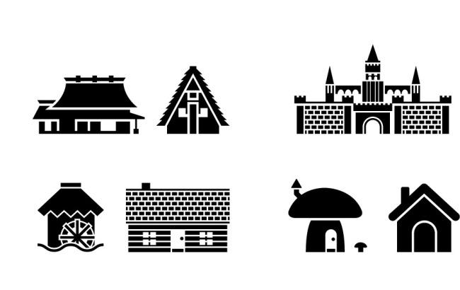 矢量建筑图标免费下载