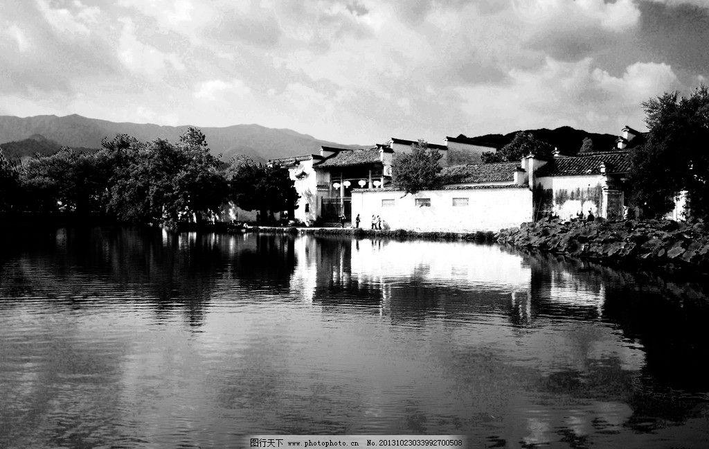 黑白艺术建筑风景设计
