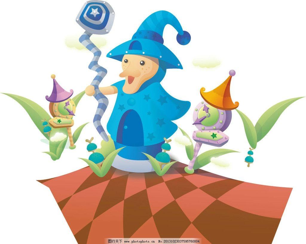 卡通 卡通插画 卡通人物 巫女 儿童 图案 图形设计 创意插画