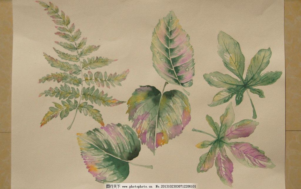 手绘花卉 水彩花卉 植物 肌理 抽象花卉 叶子 美术绘画 文化艺术 摄影
