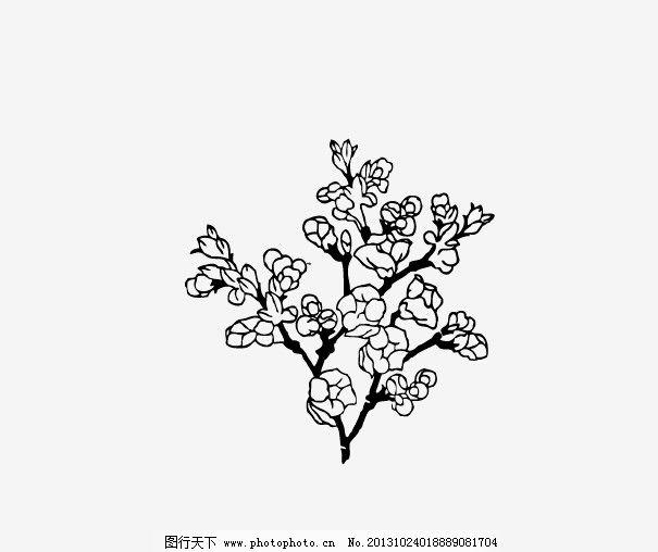 杏花树儿童手绘
