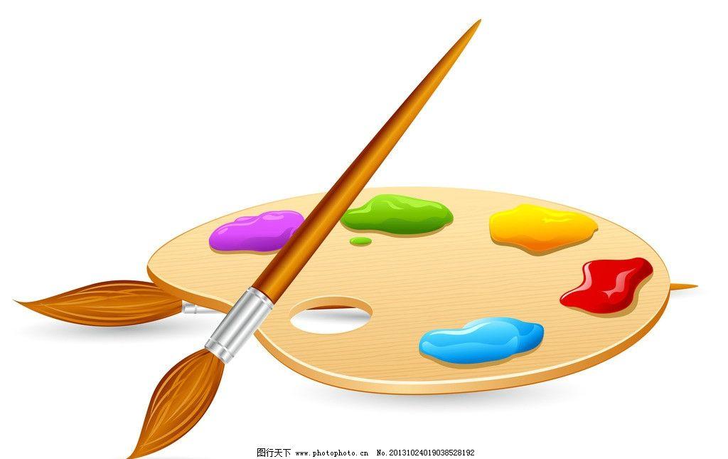 画笔背景 画笔 水粉 水彩 背景 矢量 学习用品 生活百科 eps 美术绘画