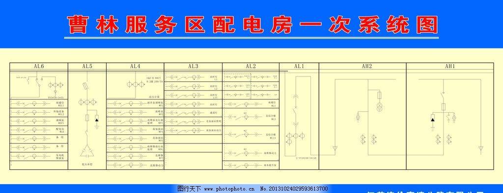服务区配电房 电路图 电器符号 服务区电路图 广告设计 矢量