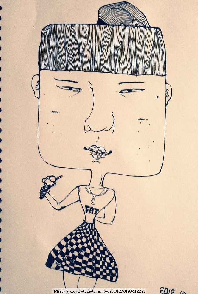 人物手绘线稿图片