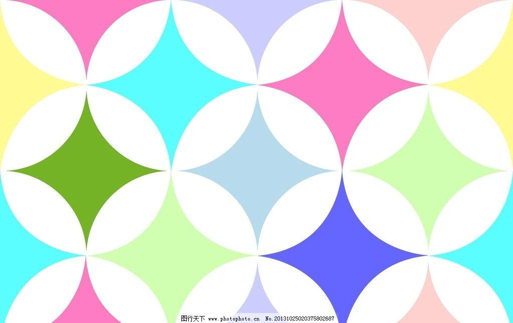 圆圈组合图 重叠圈 圆圈组合 圆圈底纹背景 四角星 万花筒 花边花纹