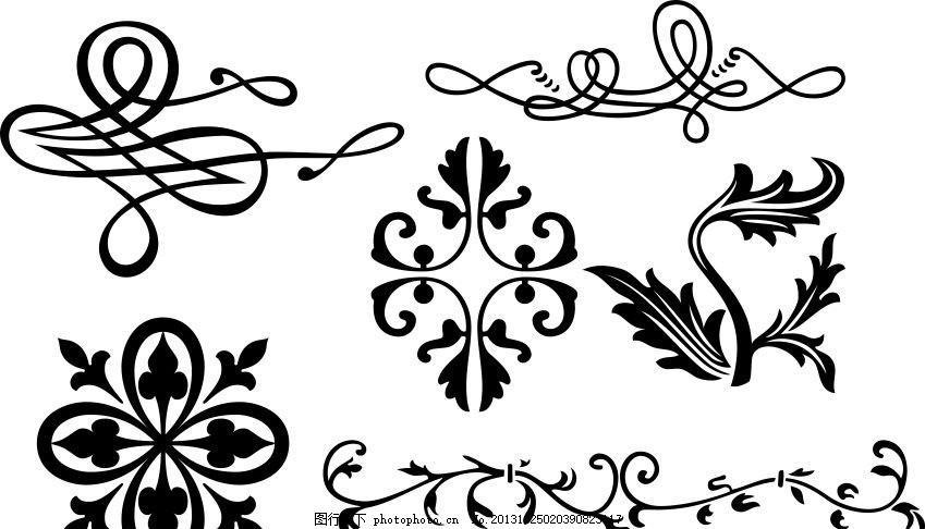 花纹 边框 藤 花边矢量素材 边纹 花 造型 结构 复杂 雕花 雕刻 镂空