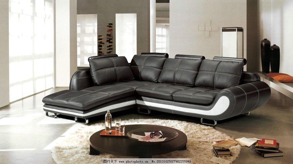 沙发 客厅沙发 沙发设计 真皮沙发 转角沙发 欧式沙发 黑色沙发 现代