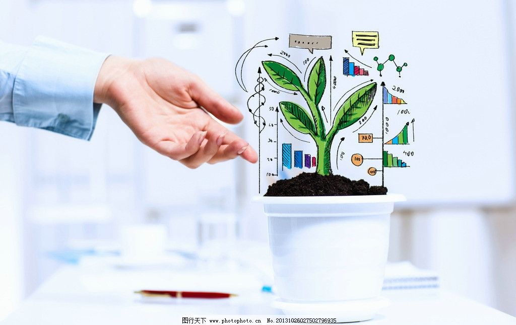 科技绘图 办公 手绘 植物 图标 设计书 办公室 科技感 图案