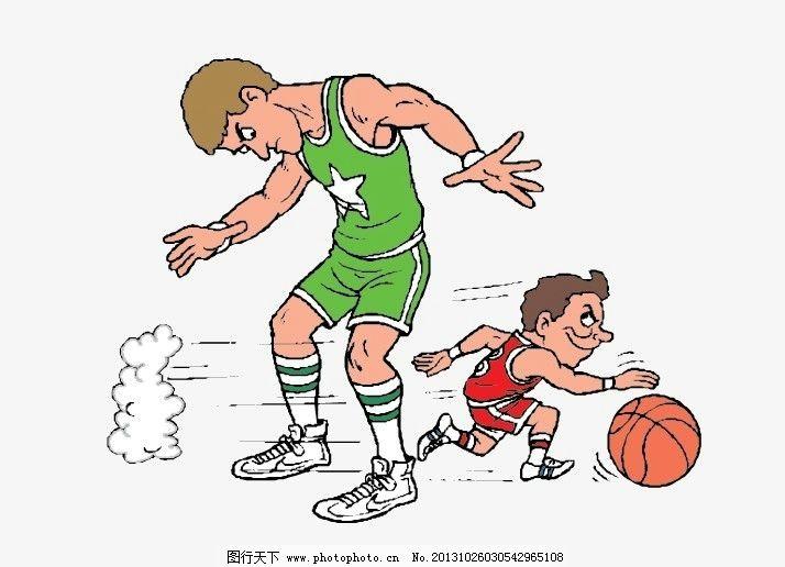 打篮球 篮球运动 矢量人物 男人男性 矢量图库 卡通 带球 过人
