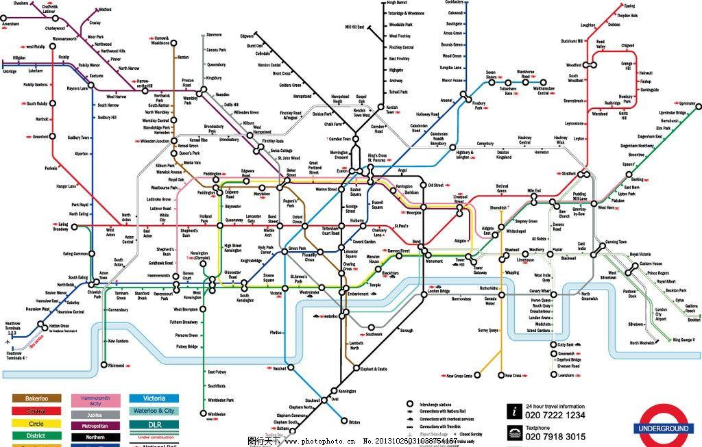 伦敦地铁 地铁路线 矢量图 伦敦交通 其他设计 广告设计 矢量 ai