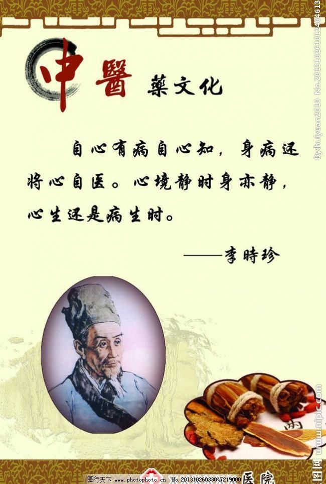 中医文化李时珍 中医 药 李时珍 中药 中医药文化 格言 边框 古典边框