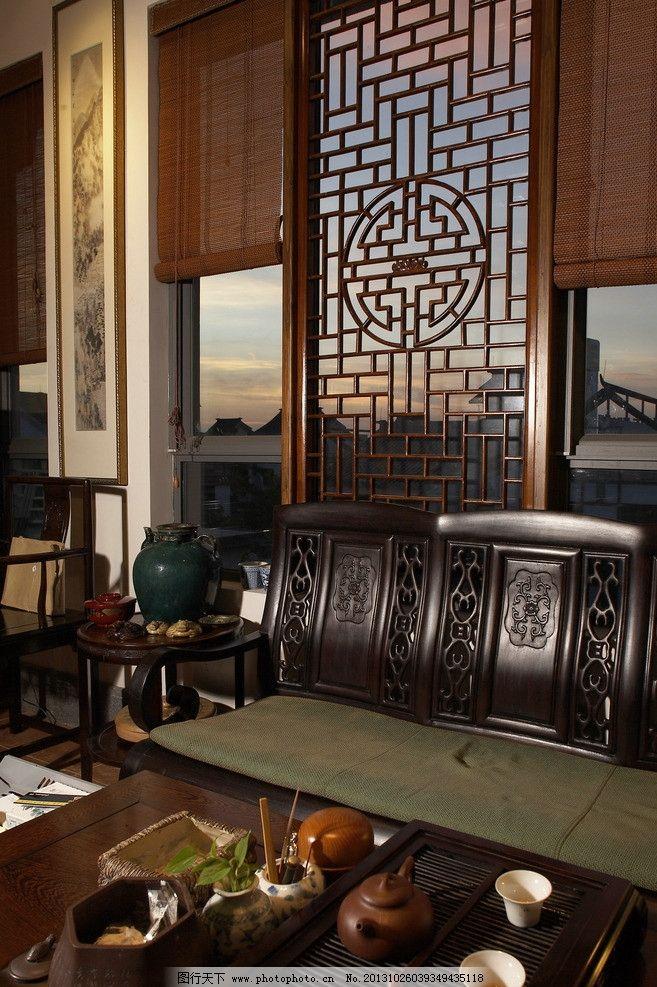 古代木屋 古代 木屋 书房 木头凳子 木雕窗户 室内摄影 建筑园林 摄影