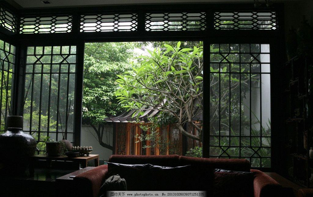 窗外 家居 豪华 豪华住宅 古典风格客厅 室内摄影 建筑园林 摄影 72