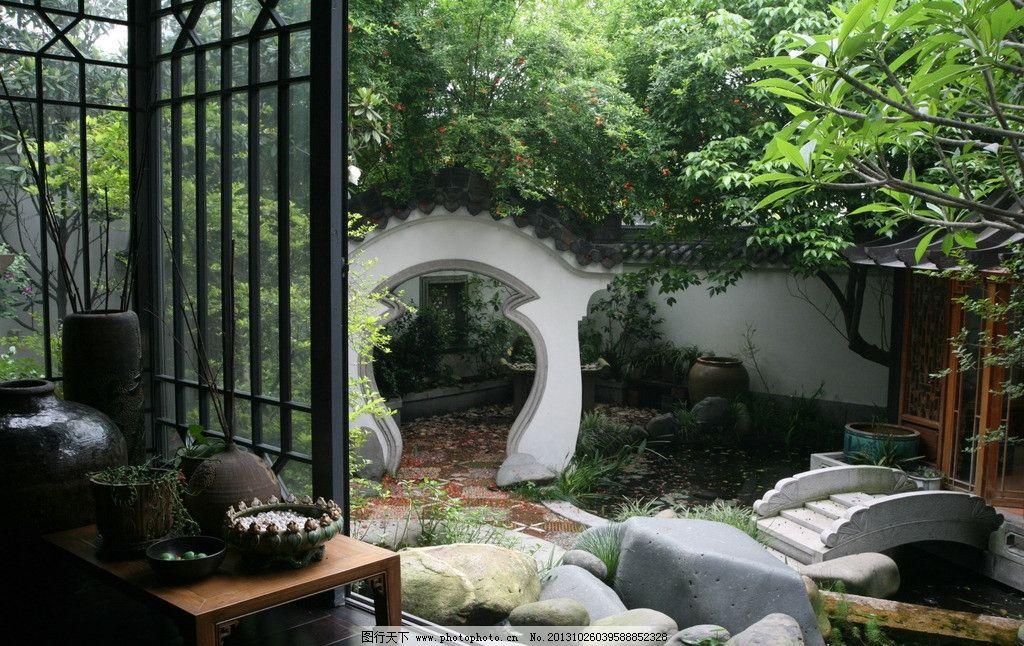 古典园林 古代 古典 林 院子 树木 园林建筑 建筑园林 摄影 72dpi jpg