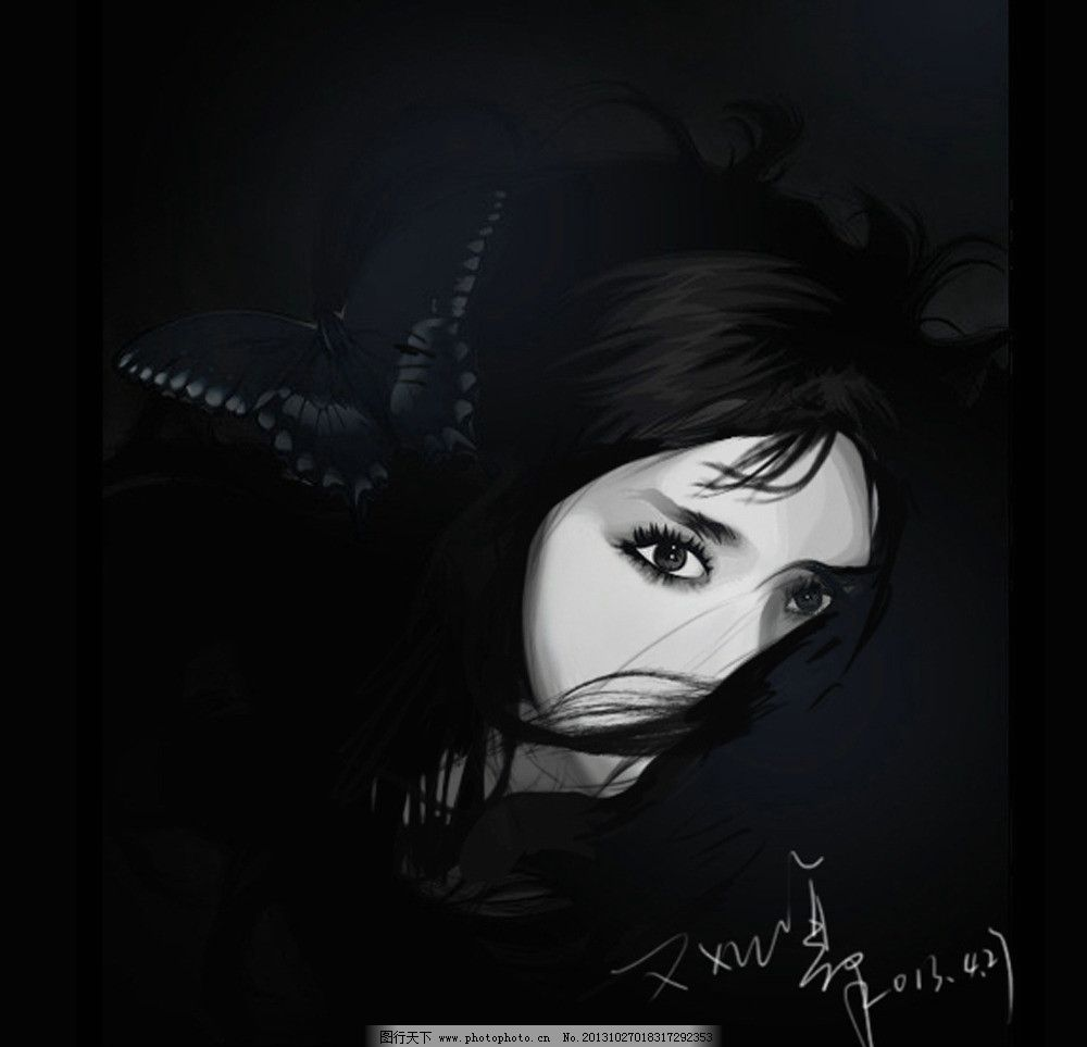 人物原画手绘 黑白手绘 人物手绘 临摹人物 卡通人物形象画 动漫人物