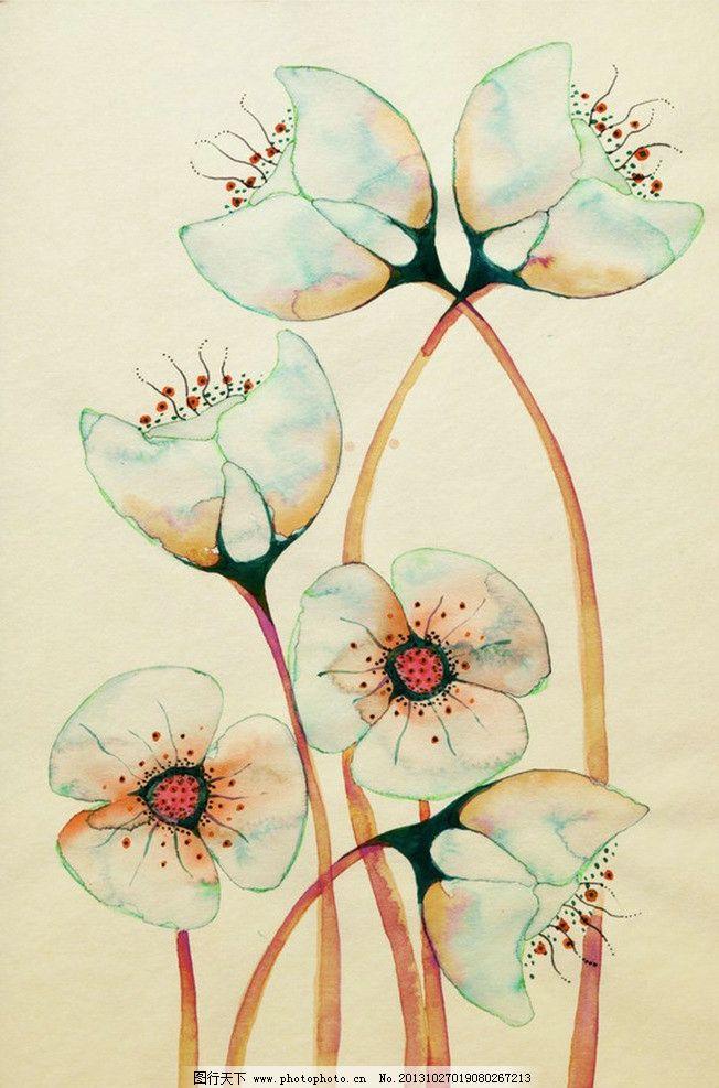 手绘花 花 艺术 广告设计