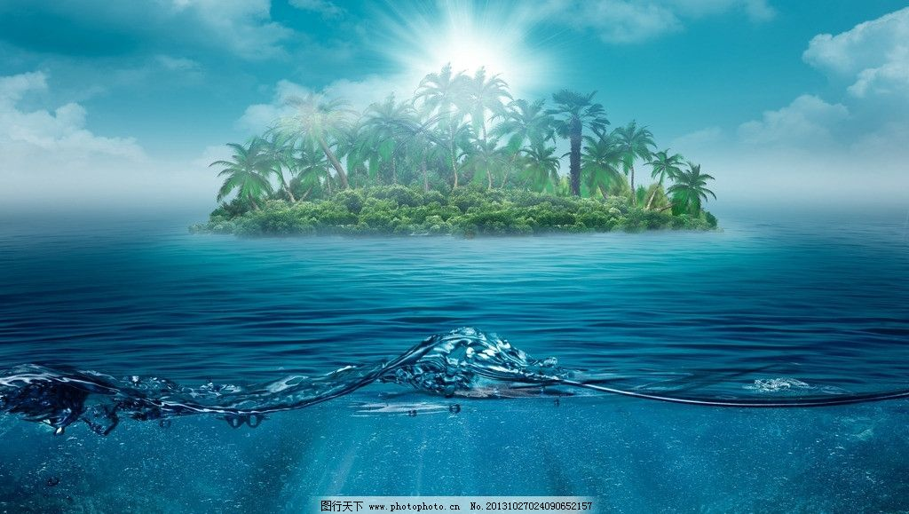 海岛背景板设计