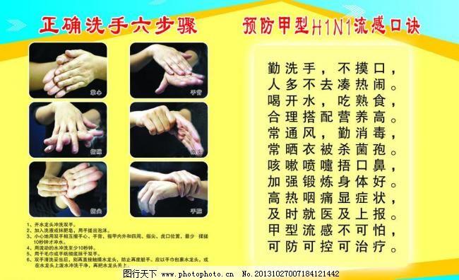 洗手六步骤图片