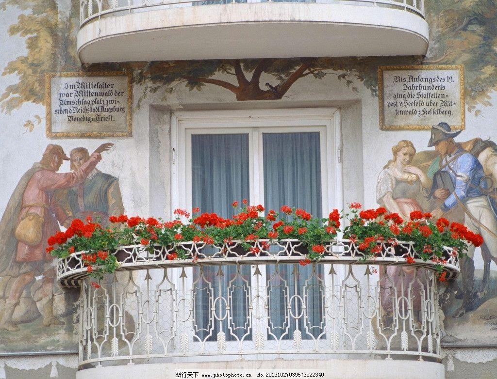 欧式白色窗台图片