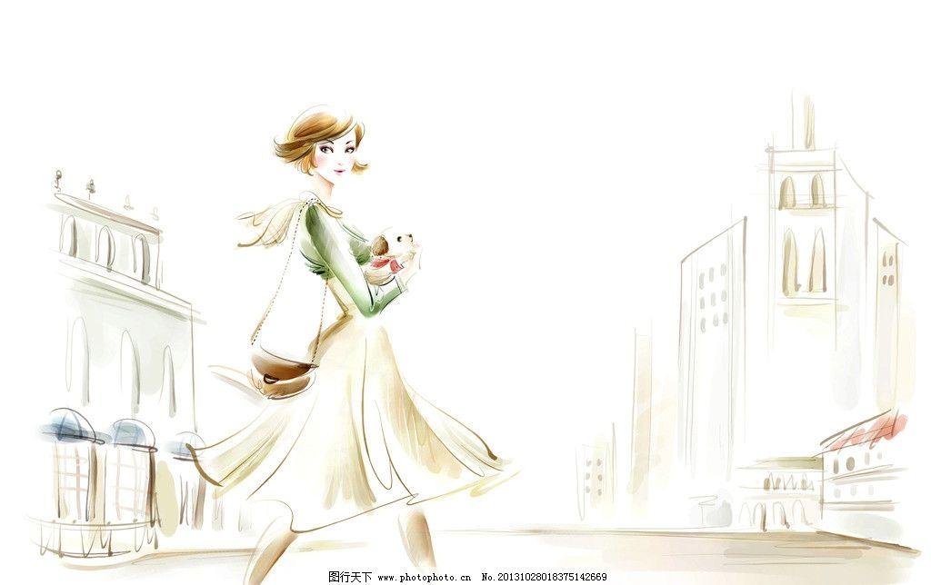 插画人物 卡通 自然 环境 人物 漫画 动漫人物 动漫动画 设计 300dpi