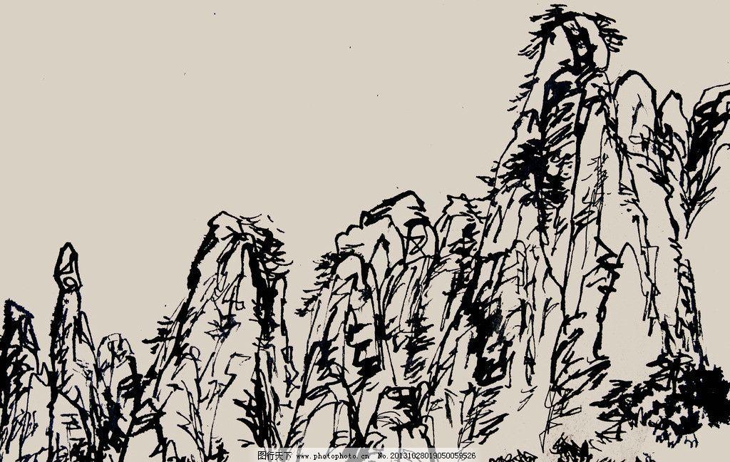 风景速写 速写 风景 钢笔 线条 山水 绘画书法 文化艺术 设计 300dpi
