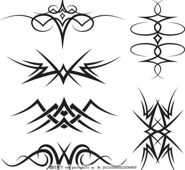 纹身图案矢量图片