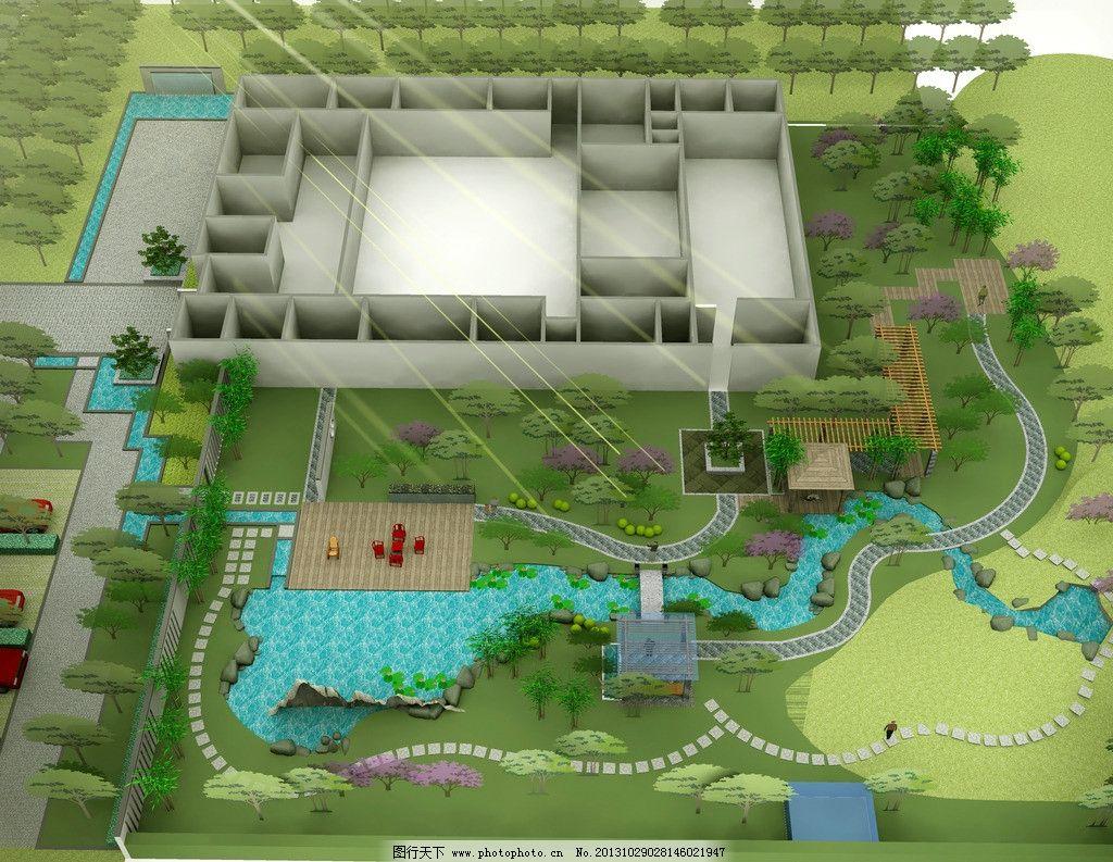 四合院景观 古建 中式 庭院 环境 景观设计 环境设计 设计 72dpi jpg图片