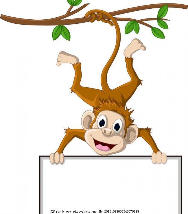 设计图库 动漫卡通 卡通动物  eps 白板 广告牌 广告设计 广告设计