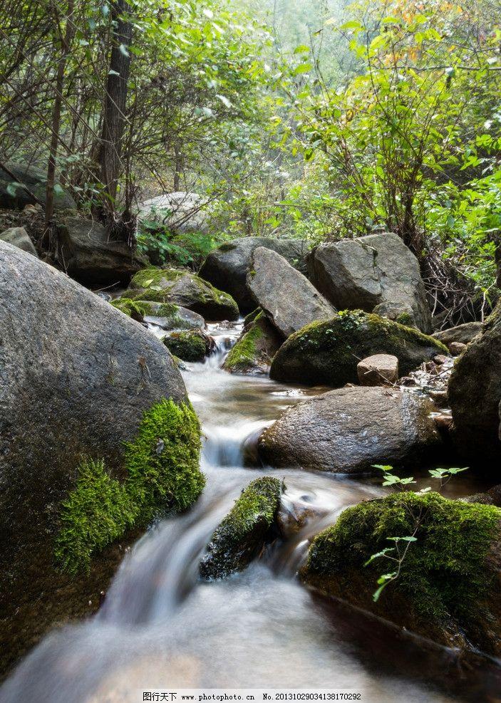 山间小溪河流摄影图片