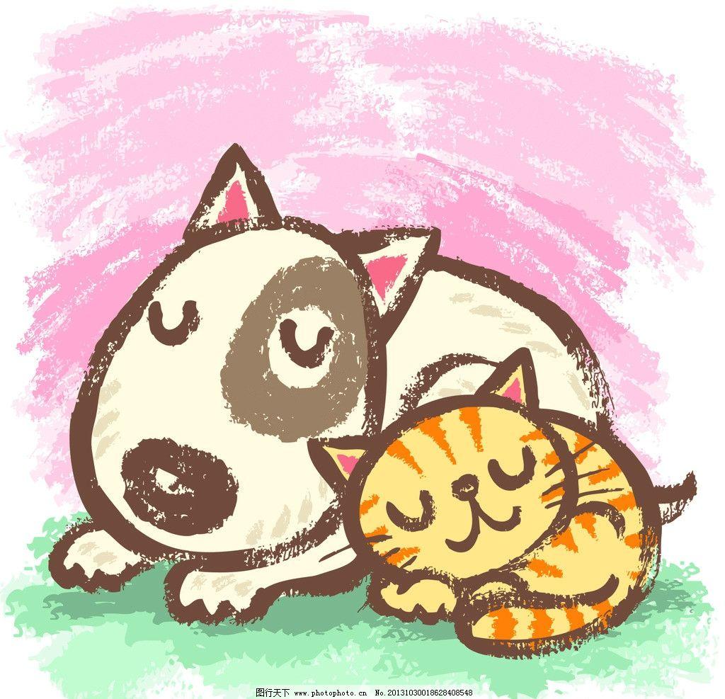 卡通狗 卡通 漫画 动物 小狗 狗狗 小猫 其他 动漫动画 设计 300dpi