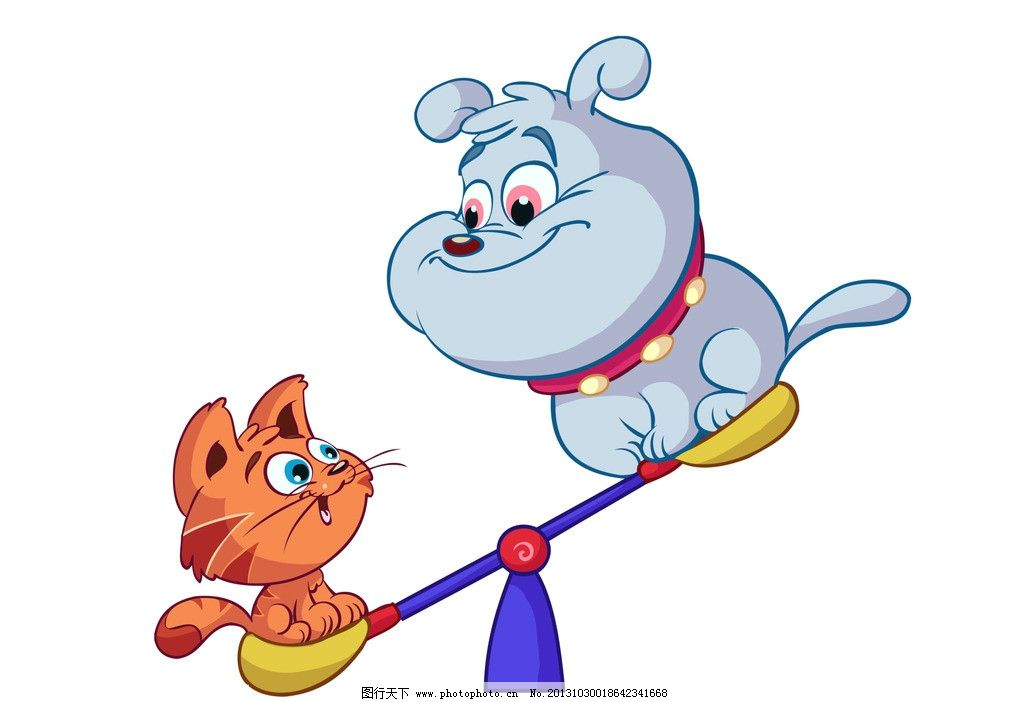 卡通狗 卡通 漫画 动物 小狗 小猫 猫咪 其他 动漫动画 设计 300dpi
