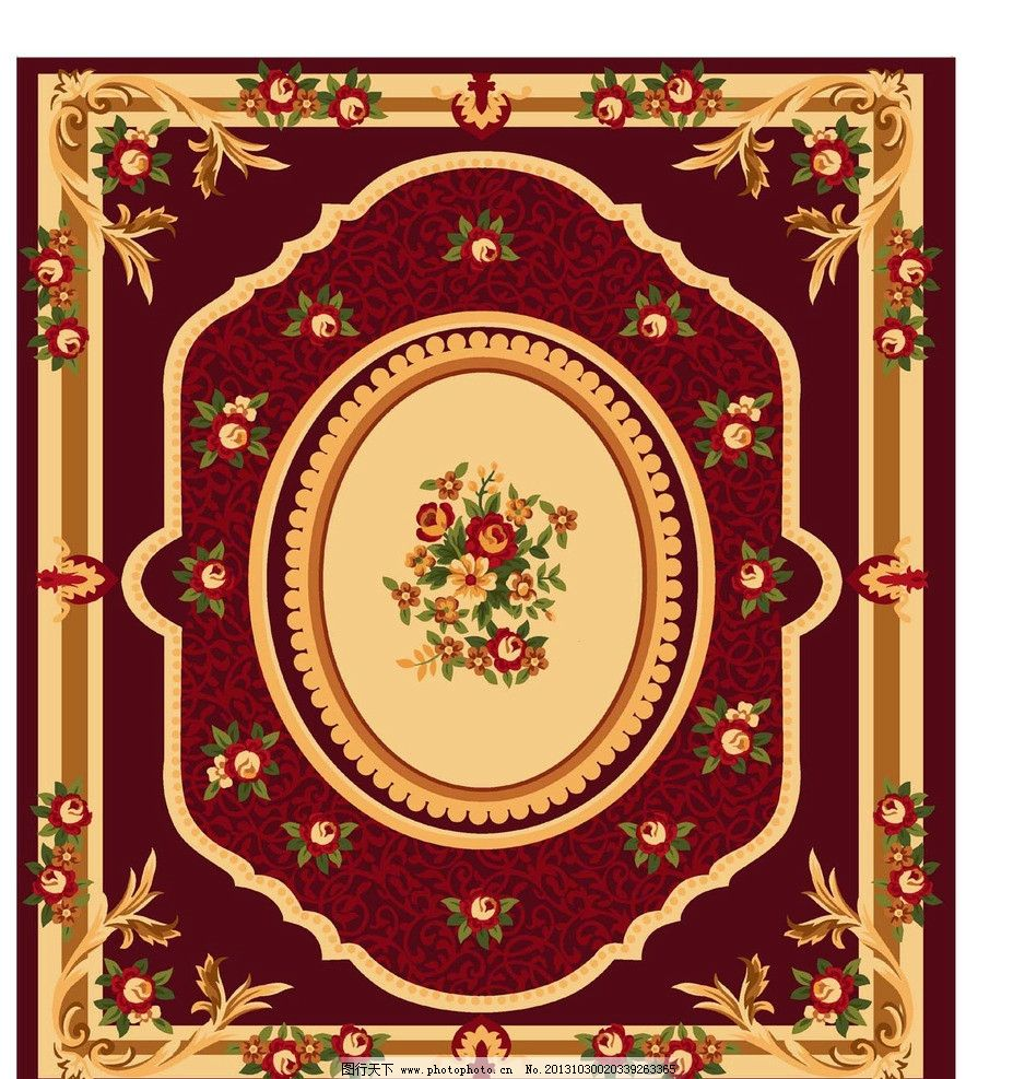 地毯花纹 欧式 美式 花毯 框框 地毯 花边花纹 底纹边框 设计 300dpi