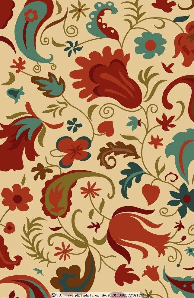 地毯花纹 花 树叶 现代 欧式 地毯 花边花纹 底纹边框 设计 200dpi