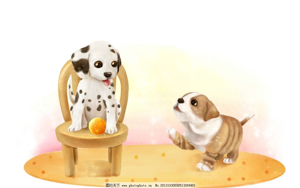 卡通狗 卡通 漫画 小狗 狗狗 动物 椅子 其他 动漫动画 设计 300dpi