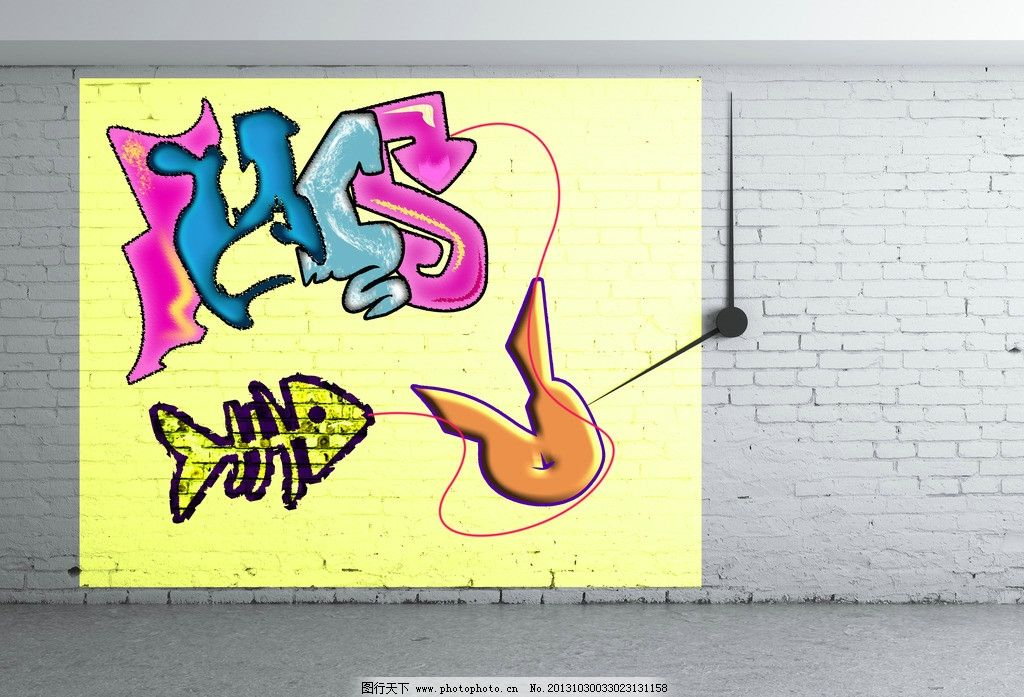涂鸦 墙绘 艺术字母 文化艺术 动感背景 手绘 壁画 艺术背景
