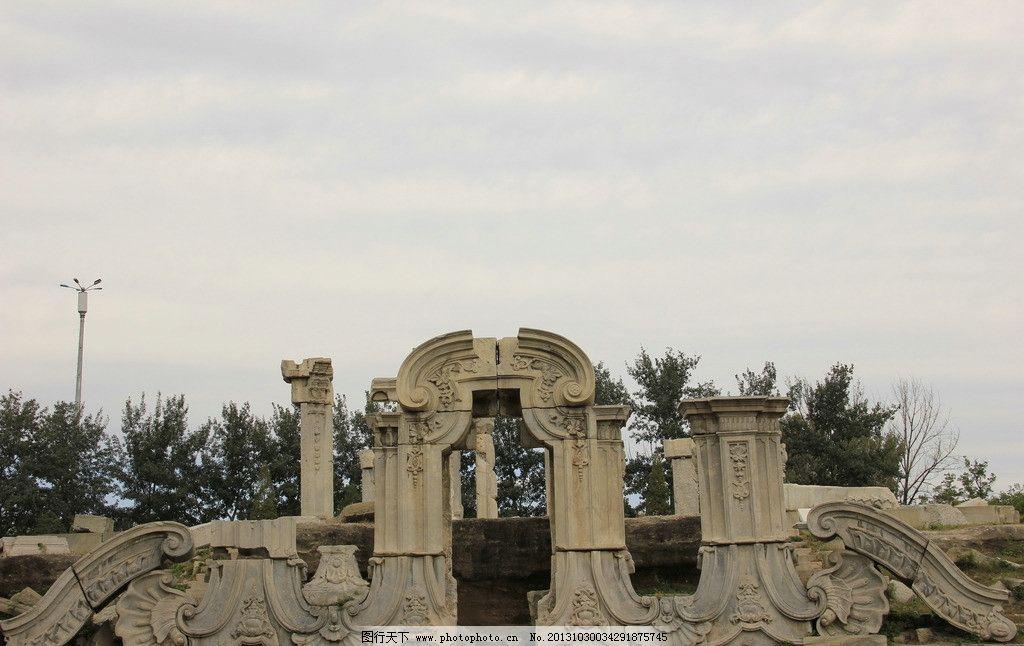 圆明园 圆明园图片素材下载 初春 景观 雕塑 传统 传统文化 文化艺术