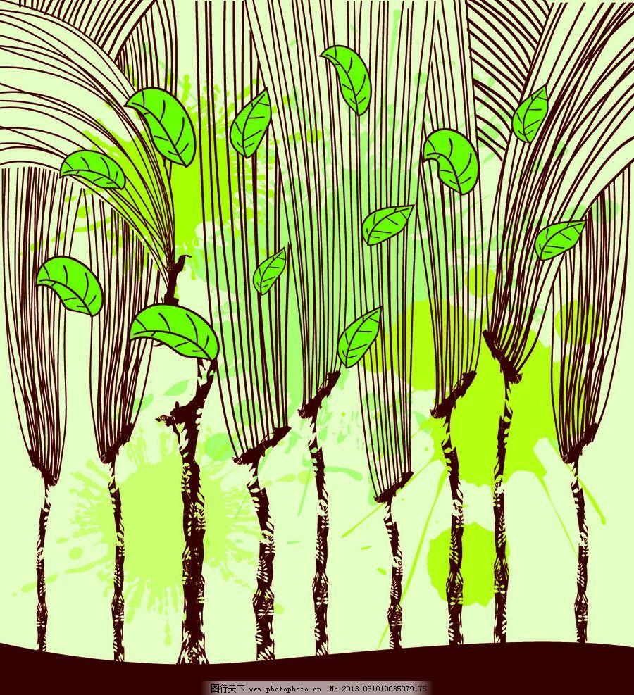 手绘植物图片