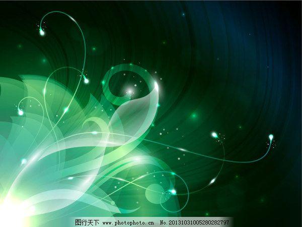 绿色梦幻背景 绿色梦幻背景免费下载 透明 星空 矢量图 花纹花边图片