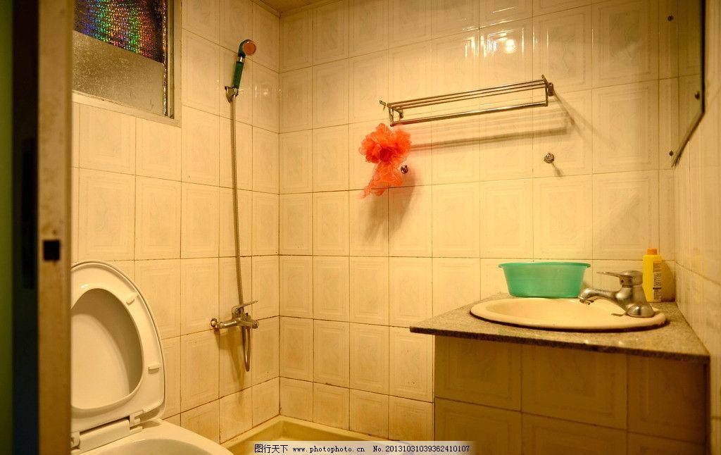 卫生间图片,马桶 淋浴器 台盆 镜子 拉门 室内摄影-图图片