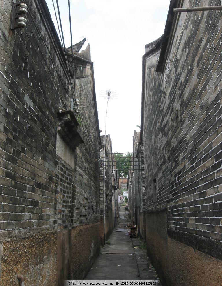 老巷子 老房子 灰砖房 延伸 透视 破旧 怀旧 户外 建筑摄影