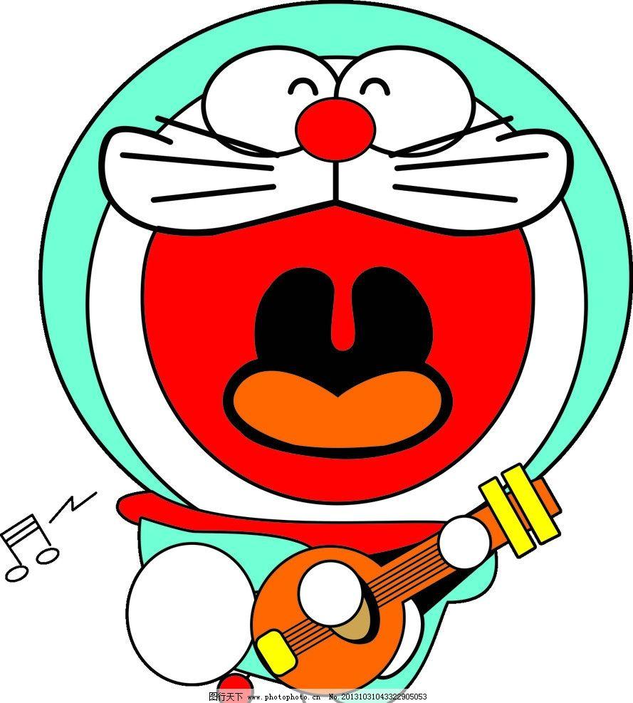 叮当猫 动漫 可爱 卡通 大雄 卡通设计 广告设计 矢量 cdr