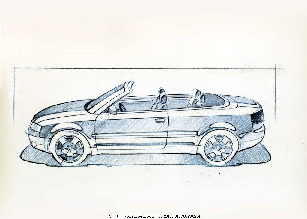 手绘汽车 线条感 汽车 工业设计 绘画基础 阴影 绘画书法 文化艺术