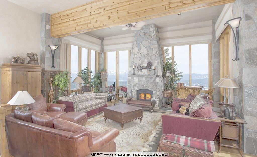 家居 装饰 装修 装潢 沙发 茶几 地板 地毯 欧式 山地 别墅 墙壁 壁炉