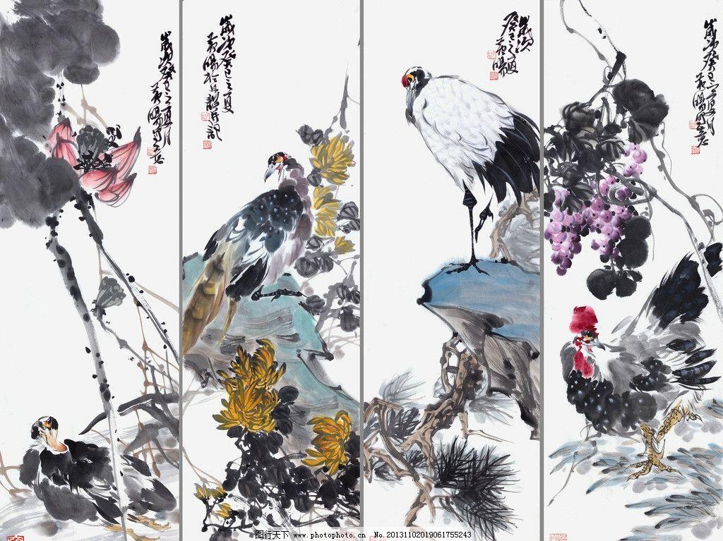 黄旸写意花鸟画