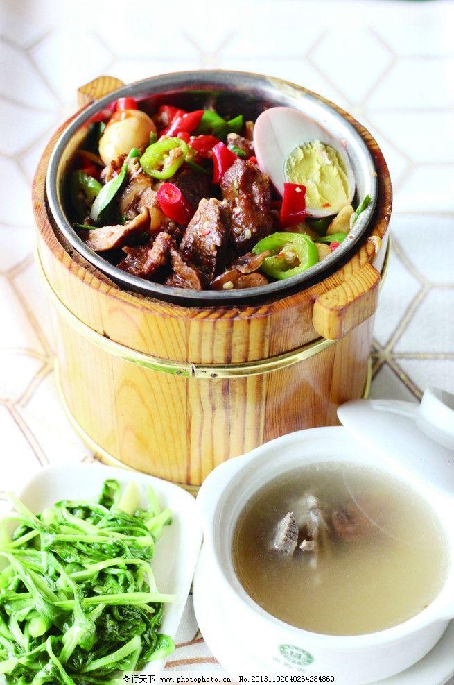 香菇牛肉木桶饭图片