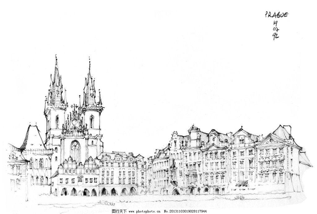 手绘钢笔画 外国钢笔画 手绘 钢笔画 线描 建筑钢笔画 绘画书法 文化
